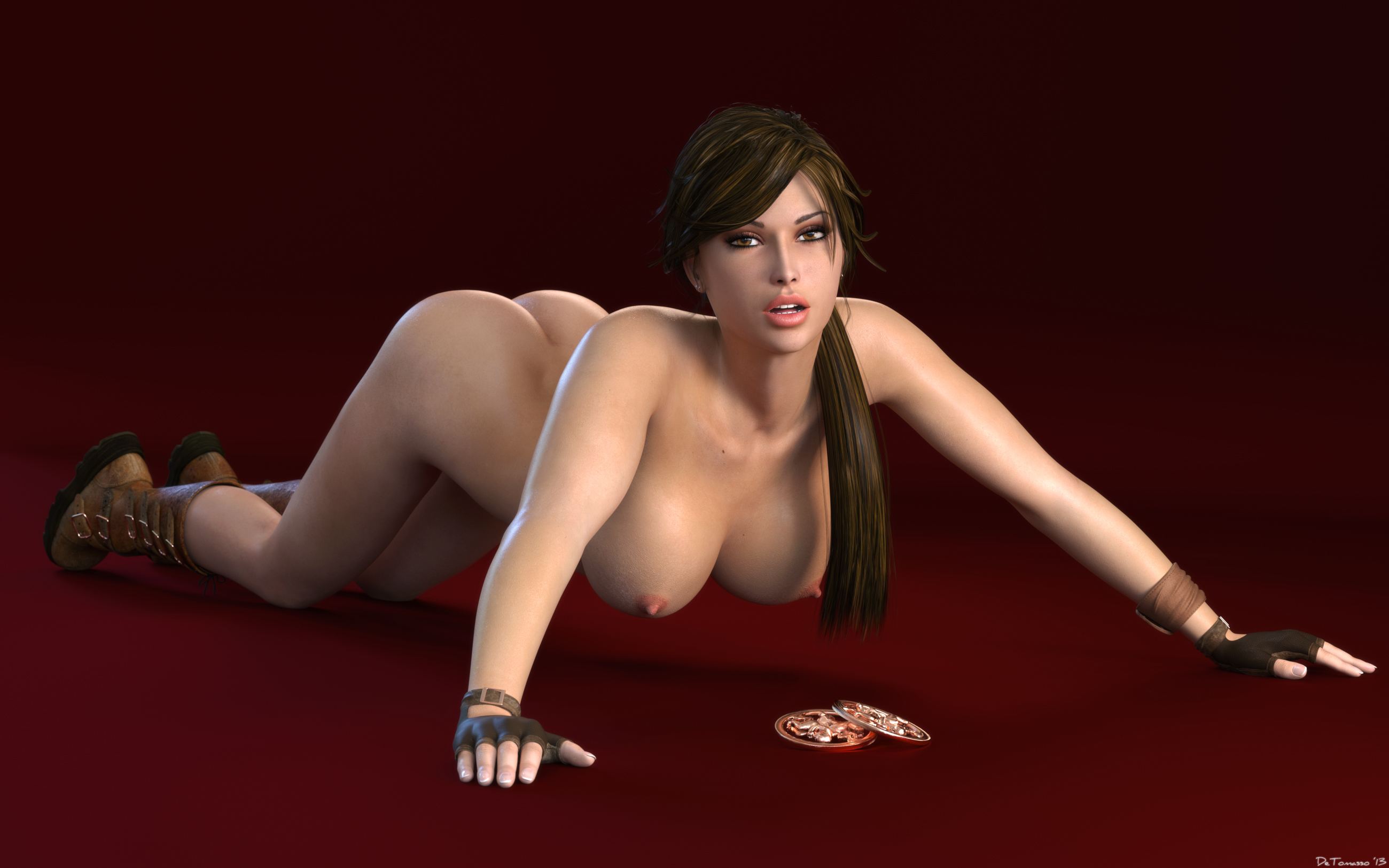 Lara croft naked wallpapers exposed video