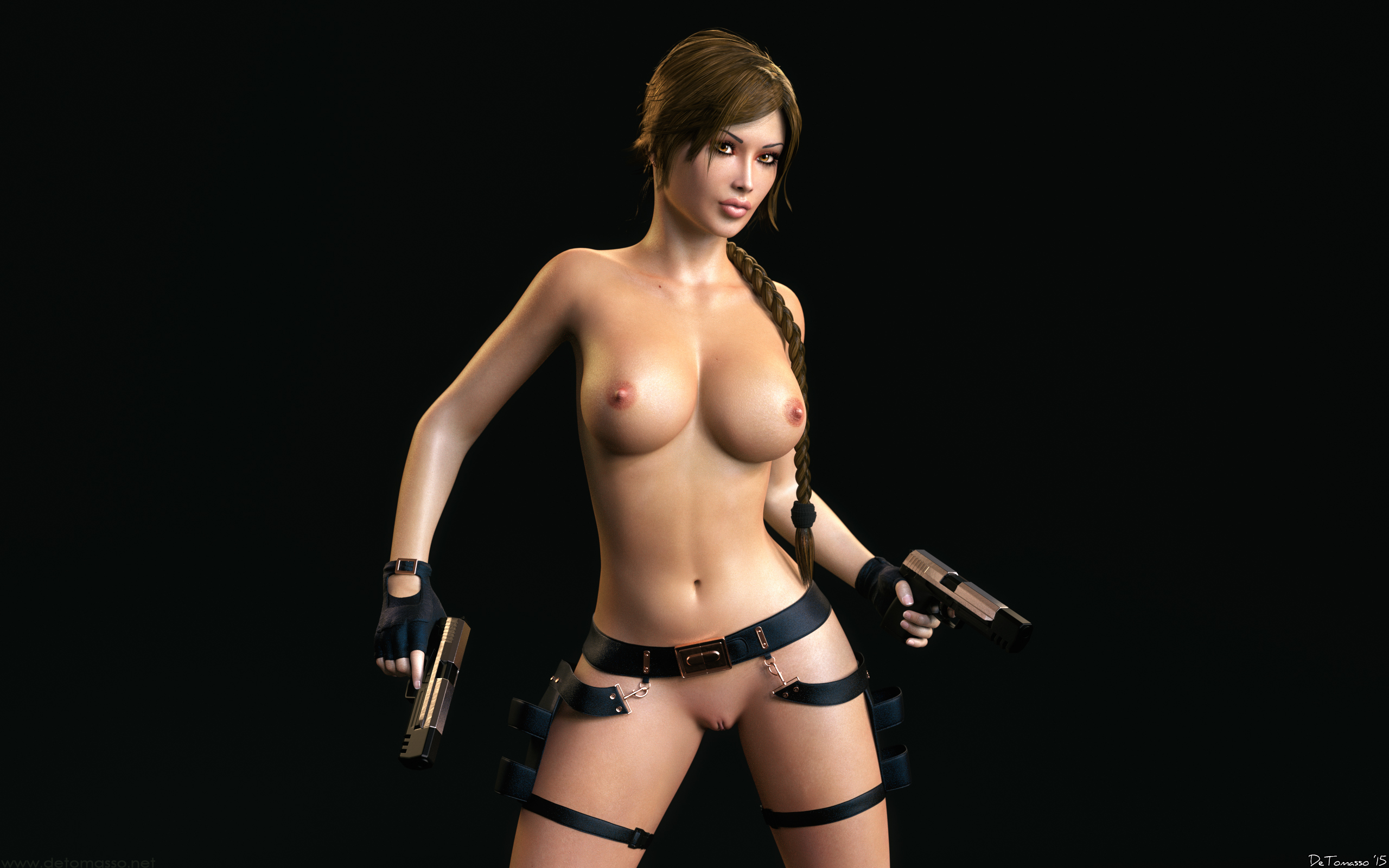 Lara Croft Nude In Bus 66
